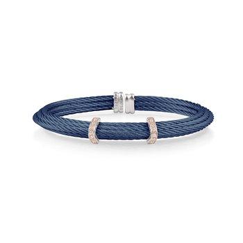 Blue Cable Cuff Bracelet