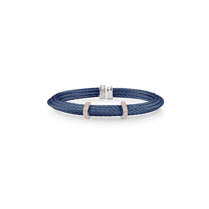 ALOR Blue Cable Cuff Bracelet