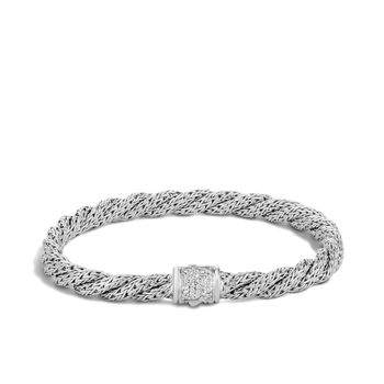 Twisted Chain Bracelet with Diamonds