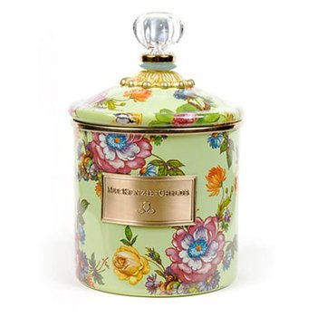 Flower Market Small Canister, Green