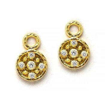 Diamond Disk Earring Pendants