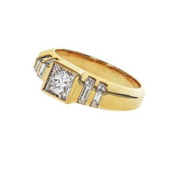 Princess Cut & Baguette Diamond Ring