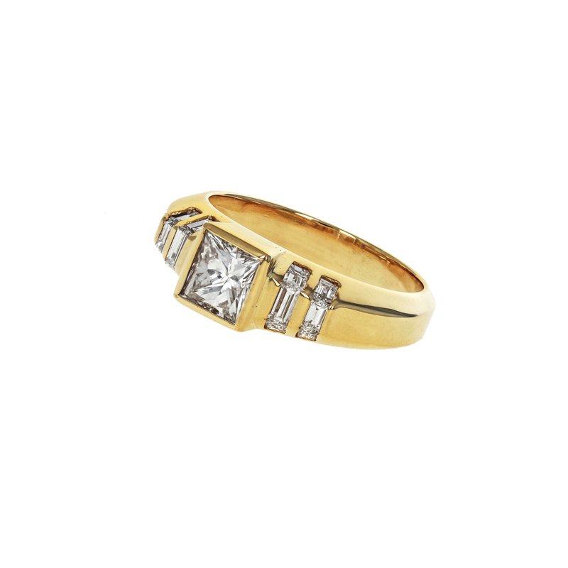 Estate Radcliffe Princess Cut & Baguette Diamond Ring
