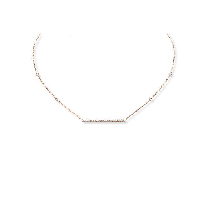 Messika Gatsby Diamond Bar Necklace