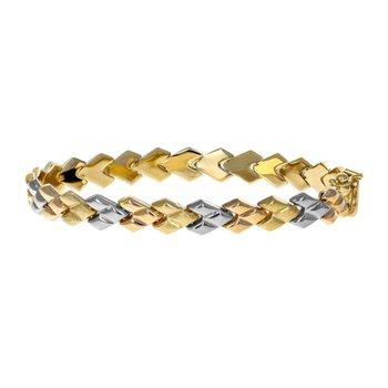 Tri-Color Link Bracelet