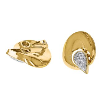Diamond Freeform Circle Earrings