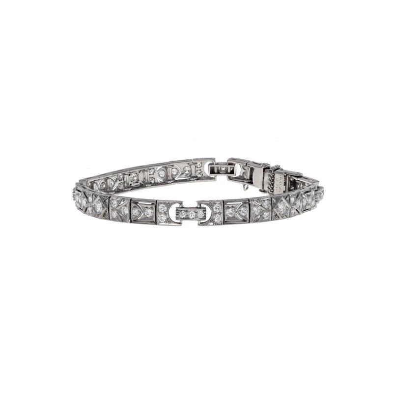 Estate Radcliffe Art Deco Diamond Bracelet
