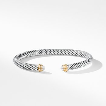 Cable Classics Collection Bracelet with Pearls and 14K Gold