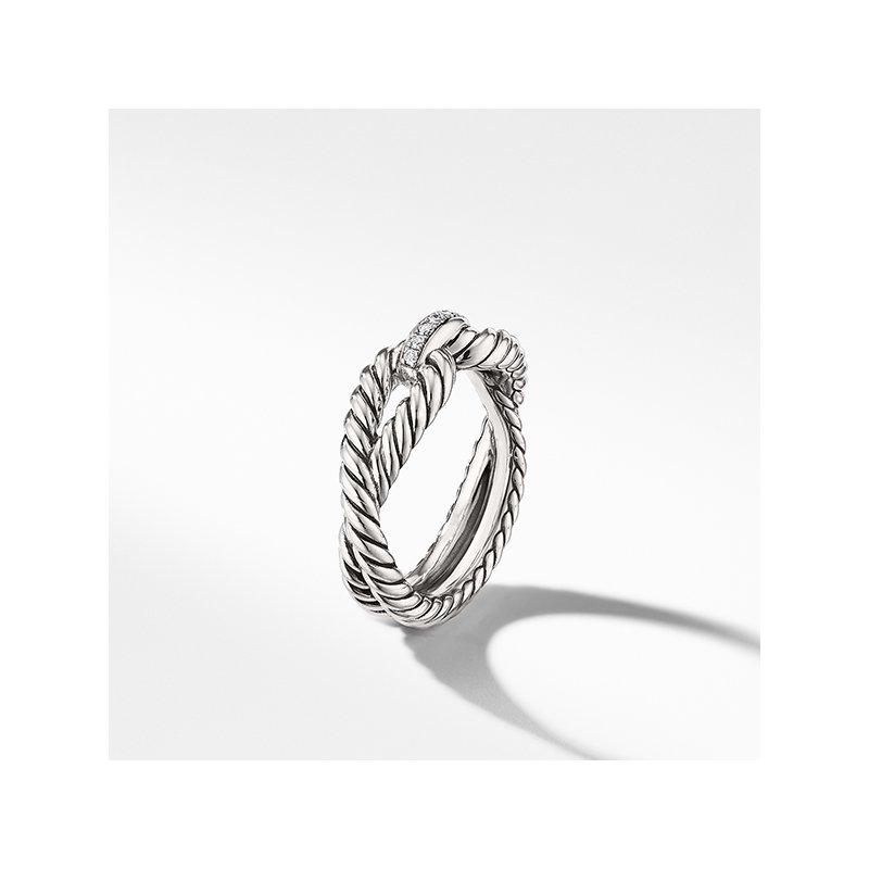 David Yurman Cable Loop Ring with Diamonds