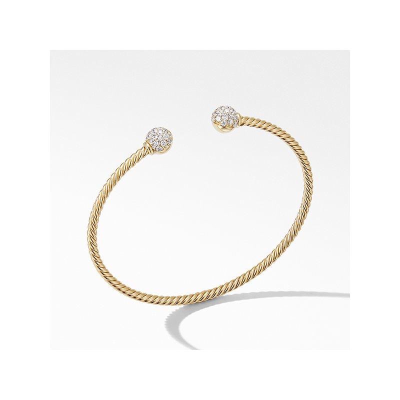 David Yurman Solari Bracelet in 18K Yellow Gold with Diamonds