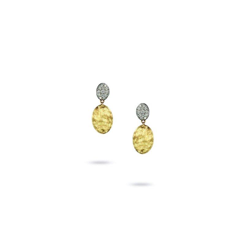 Marco Bicego Siviglia Collection 18K Yellow Gold and Diamond Drop Earrings