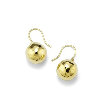 Classico Small Hammered Ball Drop Earrings