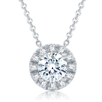 0.50 CTTW Diamond Pendant