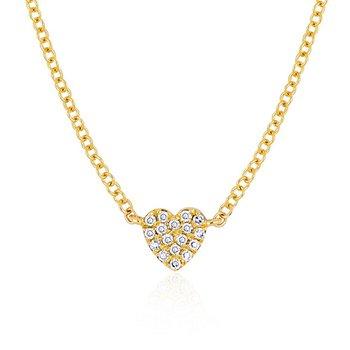 Baby Diamond Heart Necklace