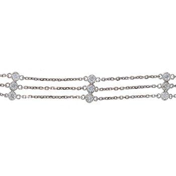 Three Strand Diamond-By-The-Yard Bracelet