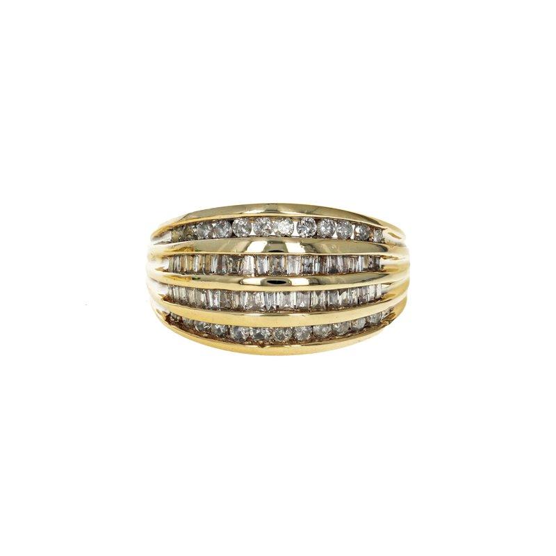 Estate Radcliffe Four Row Diamond Bracelet
