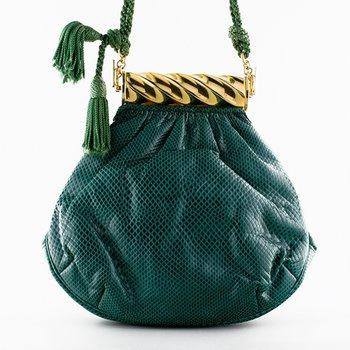 Green Lizard Evening Bag