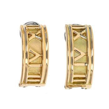 Roman Numeral Half Hoop Earrings