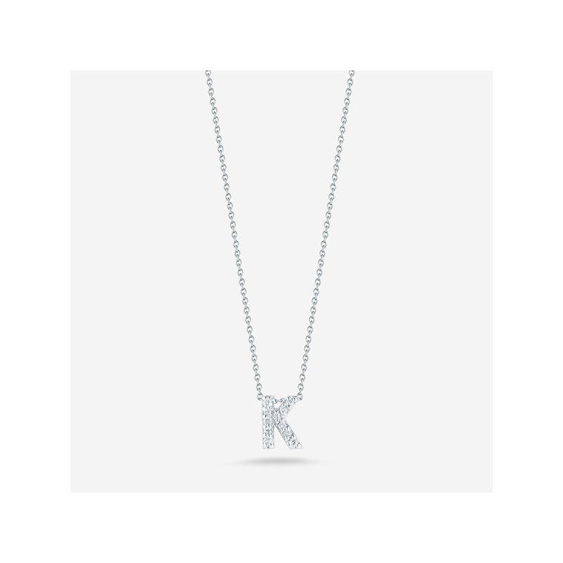 """Roberto Coin Diamond """"K"""" Pendant"""