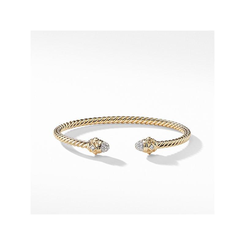 David Yurman Renaissance Bracelet with Diamonds in 18K Gold, 3mm