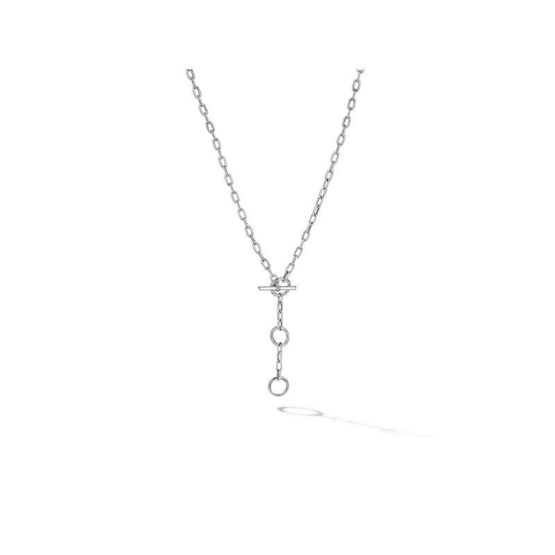 David Yurman DY Madison Three Ring Chain Necklace