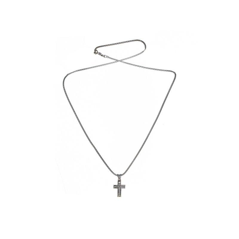 Estate Radcliffe Diamond Cross Necklace