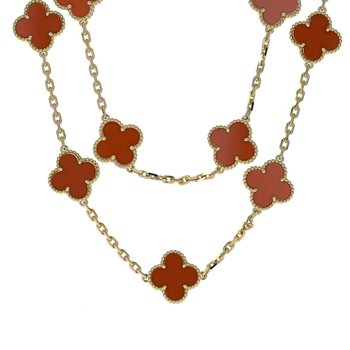 Vintage Alhambra Carnelian Necklace