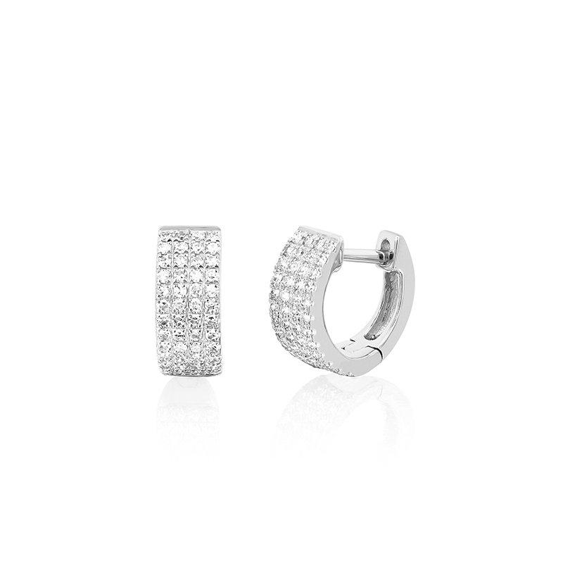 EF Collection Diamond Jumbo Huggie Earrings