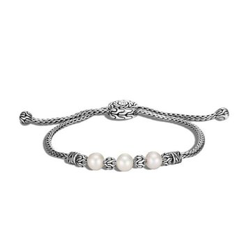 Classic Chain Pull Through Bracelet - Freshwater Pearl