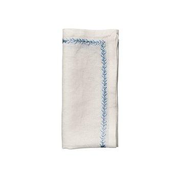 Jardins Napkin in White & Periwinkle Set/4