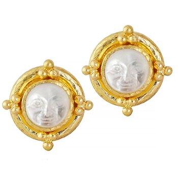 """Crystal """"Man-in-the-Moon"""" Stud Earrings"""