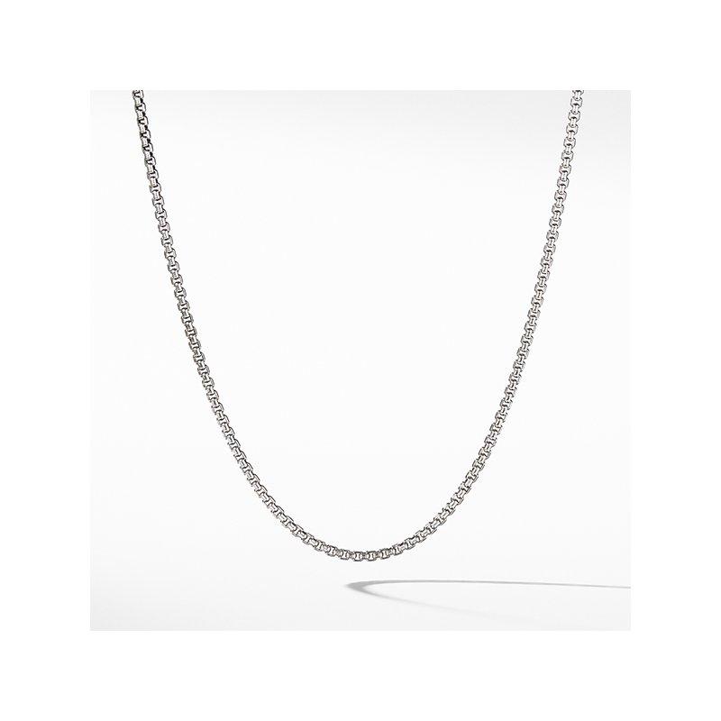 David Yurman Small Box Chain Necklace with Gold