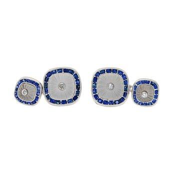Diamond & Sapphire Cufflinks