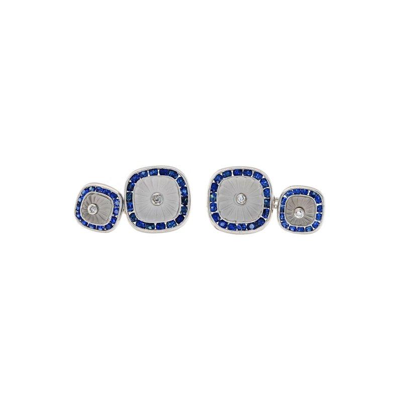 Estate Radcliffe Diamond & Sapphire Cufflinks