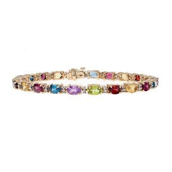 Diamond & Multicolor Gemstone Bracelet
