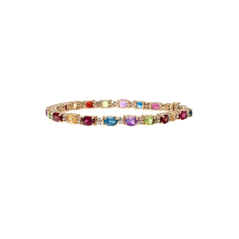 Estate Radcliffe Diamond & Multicolor Gemstone Bracelet