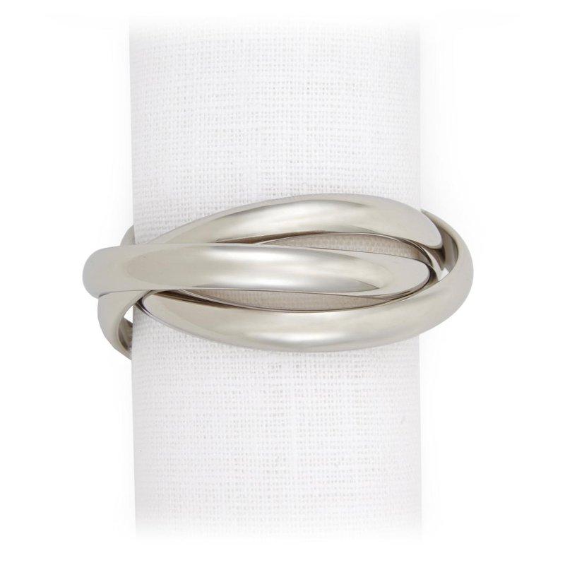 L' Objet Three Ring Napkin Jewels, Set of 4