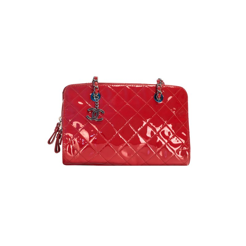 CHANEL Chain Handle Zip Bag