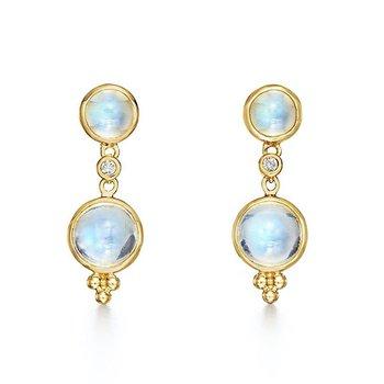 Royal Blue Moonstone Earrings