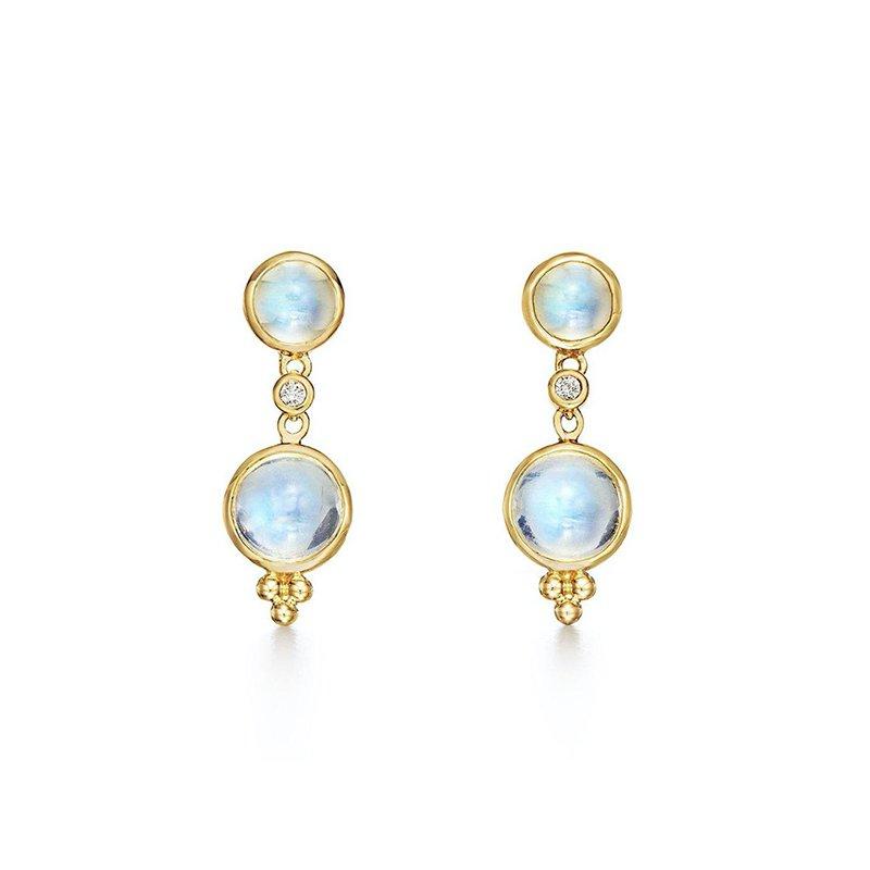 Temple St. Clair Royal Blue Moonstone Earrings