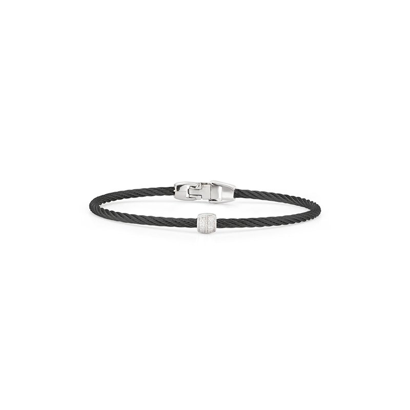 ALOR Black Cable Single Station Stackable Bracelet