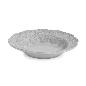 Merletto White Pasta/ Soup Bowl