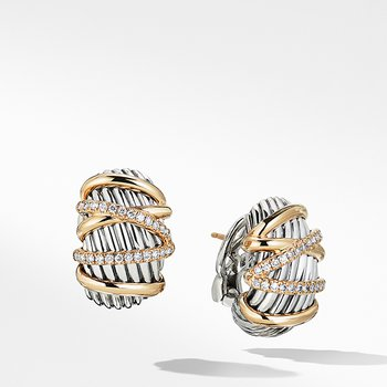 Helena Shrimp Earring with 18K Gold and Diamonds