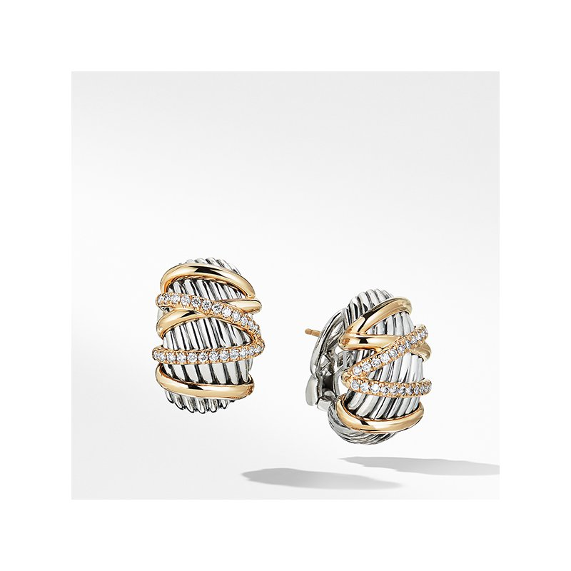 David Yurman Helena Shrimp Earring with 18K Gold and Diamonds