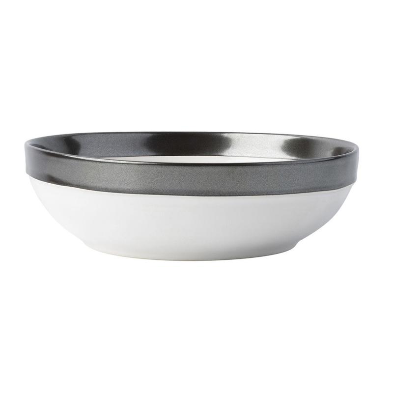 Juliska Emerson White & Pewter Coupe Pasta Bowl