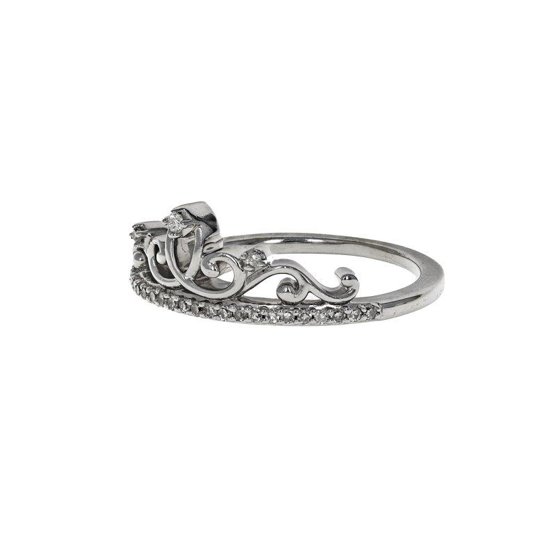Estate Radcliffe Diamond Princess Crown Ring