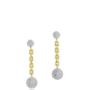 Small Infinity Double Chain Earrings
