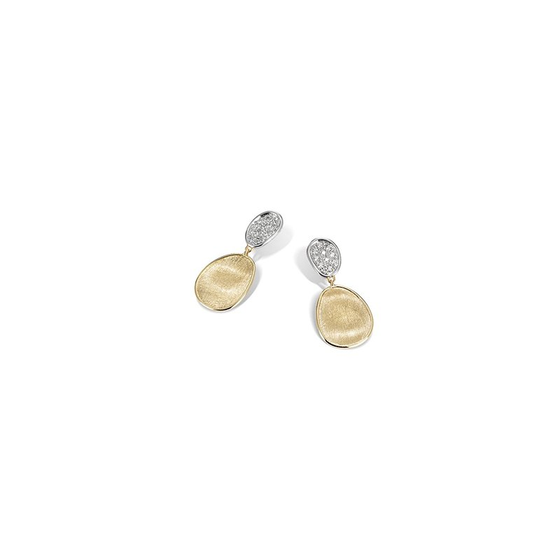 Marco Bicego Lunaria Collection Diamond Petite Double Drop Earrings