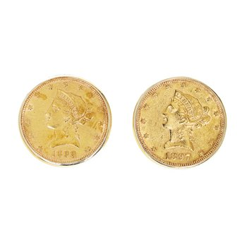 American Gold Coin Cufflinks