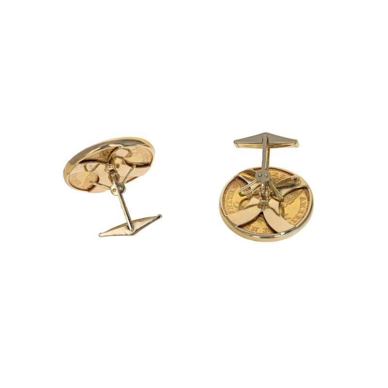Estate Radcliffe American Gold Coin Cufflinks